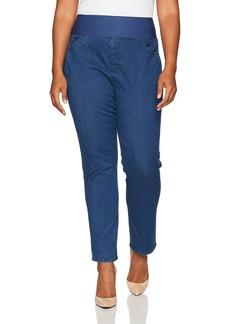 Foxcroft Women's Plus Size Slimming Pull on Jean