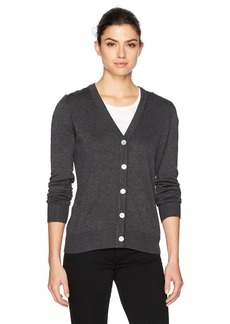 Foxcroft Women's Shirley Long Sleeve Solid Cardigan  S