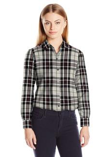 Foxcroft Women's Size Long Sleeve Holiday Tartan Shirt
