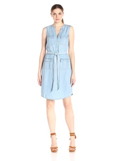 Foxcroft Women's Sleeveless Denim Tencel Dress