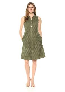 Foxcroft Women's Sleeveless Eyelet Dress  18