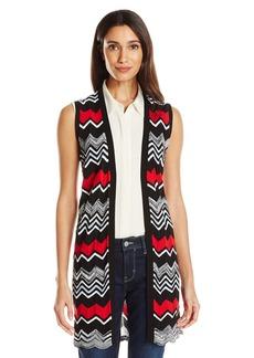 Foxcroft Women's Sleeveless Lyla Multi Stripe Sweater Vest  XS