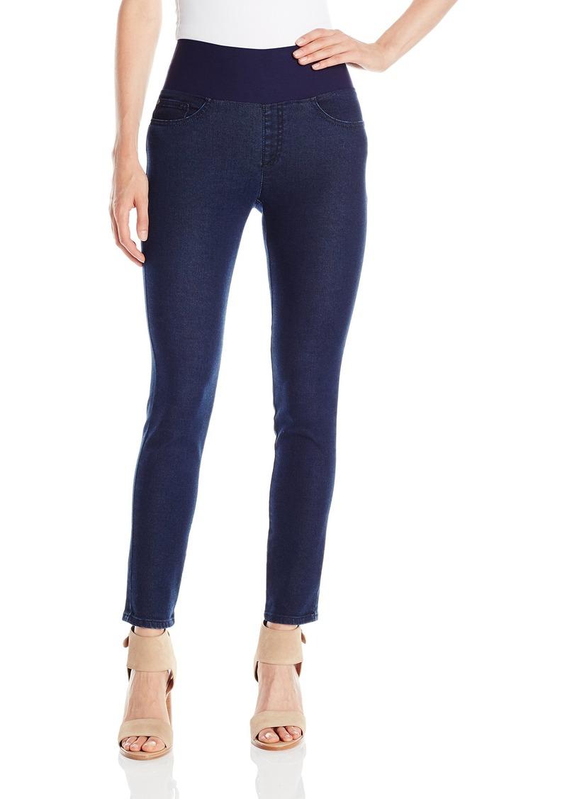 Foxcroft Women's Slimming Pull on Denim Pant