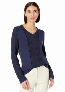 Foxcroft Women's Tabitha Cable Knit Sweater  M