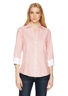 Foxcroft Women's Taylor Herringbone Stripe Non Iron Shirt