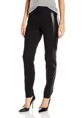 Foxcroft Women's Techno Legging with Faux Leather Panel