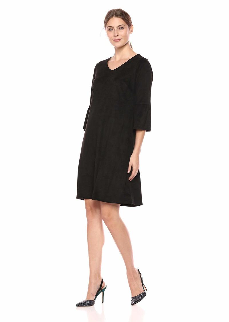 Foxcroft Women's The Fauna Faux Suede Dress