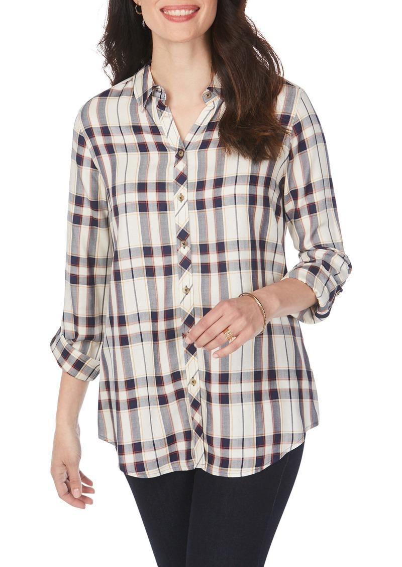 Foxcroft Zoey Autumn Plaid Wrinkle-Free Shirt