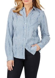 Foxcroft Hampton Crinkle Mini Check Shirt