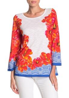 Foxcroft Maye In Hibiscus Floral Top