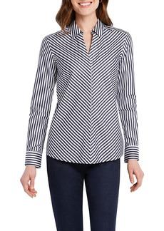 Foxcroft Mona Long Sleeve Striped Shirt