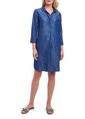 Foxcroft Nikki 3/4 Sleeve Chambray Dress