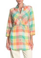 Foxcroft Perry Plaid Long Sleeve Tunic