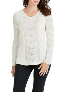 Foxcroft Tabitha Cable Neck Sweater