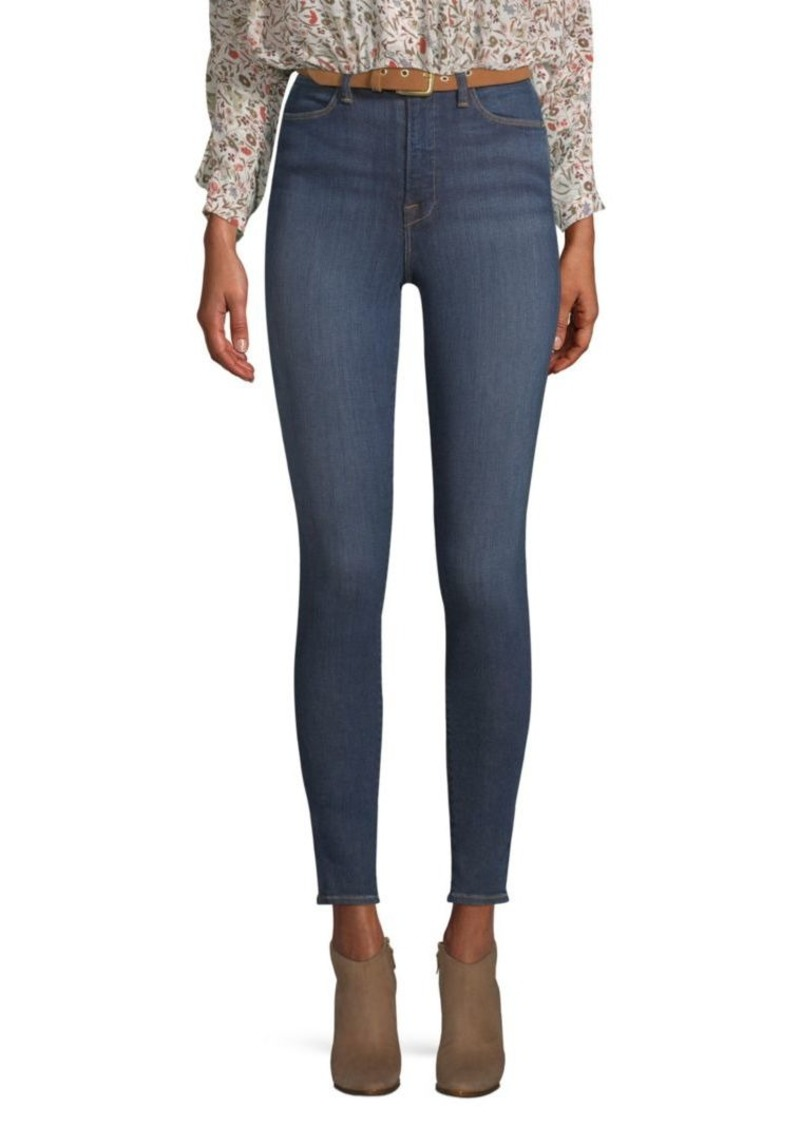 FRAME Ali High-Rise Cigarette Crop Jeans