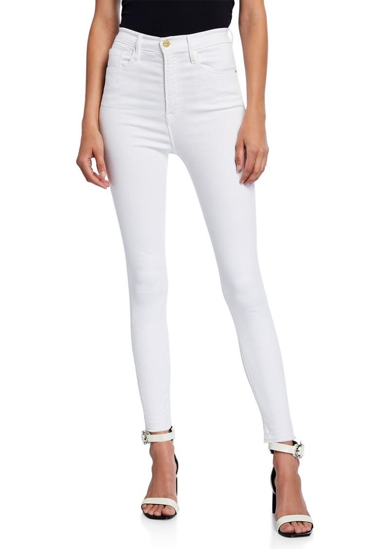 FRAME Ali High-Rise Ankle Skinny Jeans