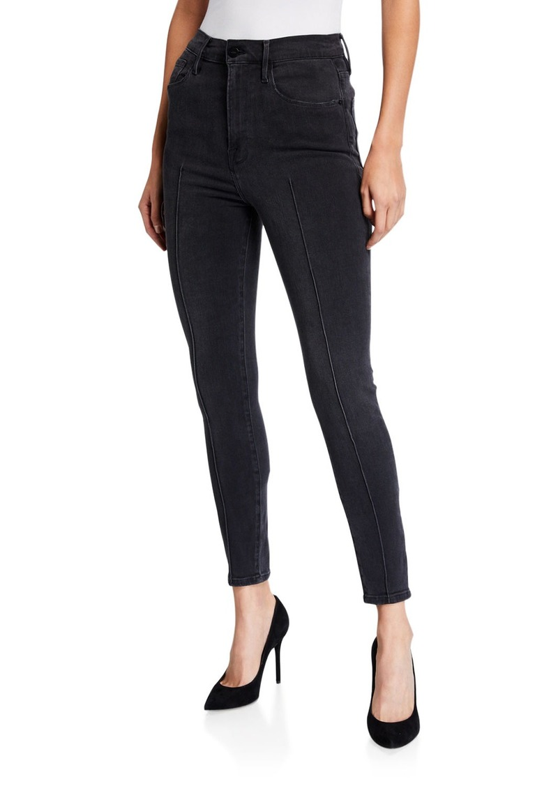 FRAME Ali High-Rise Cigarette Piped Pants