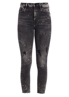 FRAME Ali High-Rise Distressed Crop Skinny Jeans