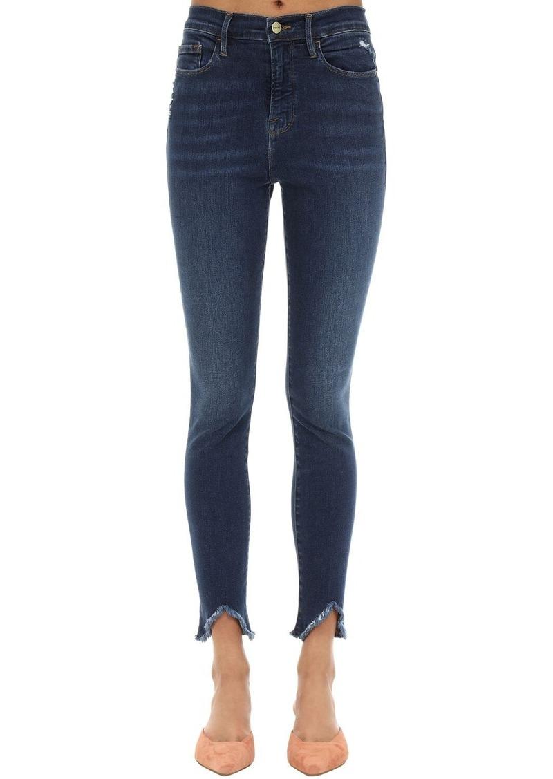 FRAME Ali High Rise Skinny Stretch Denim Jeans