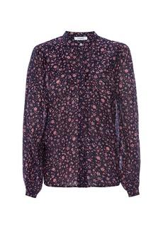 FRAME Anita Button-Down Floral Blouse