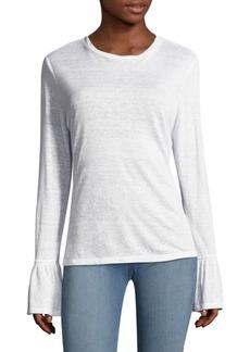 FRAME Bell-Sleeve Linen Top