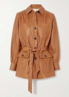 FRAME Belted Leather Jacket
