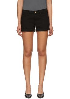 FRAME Black Cuffed 'Le Cut Off' Shorts