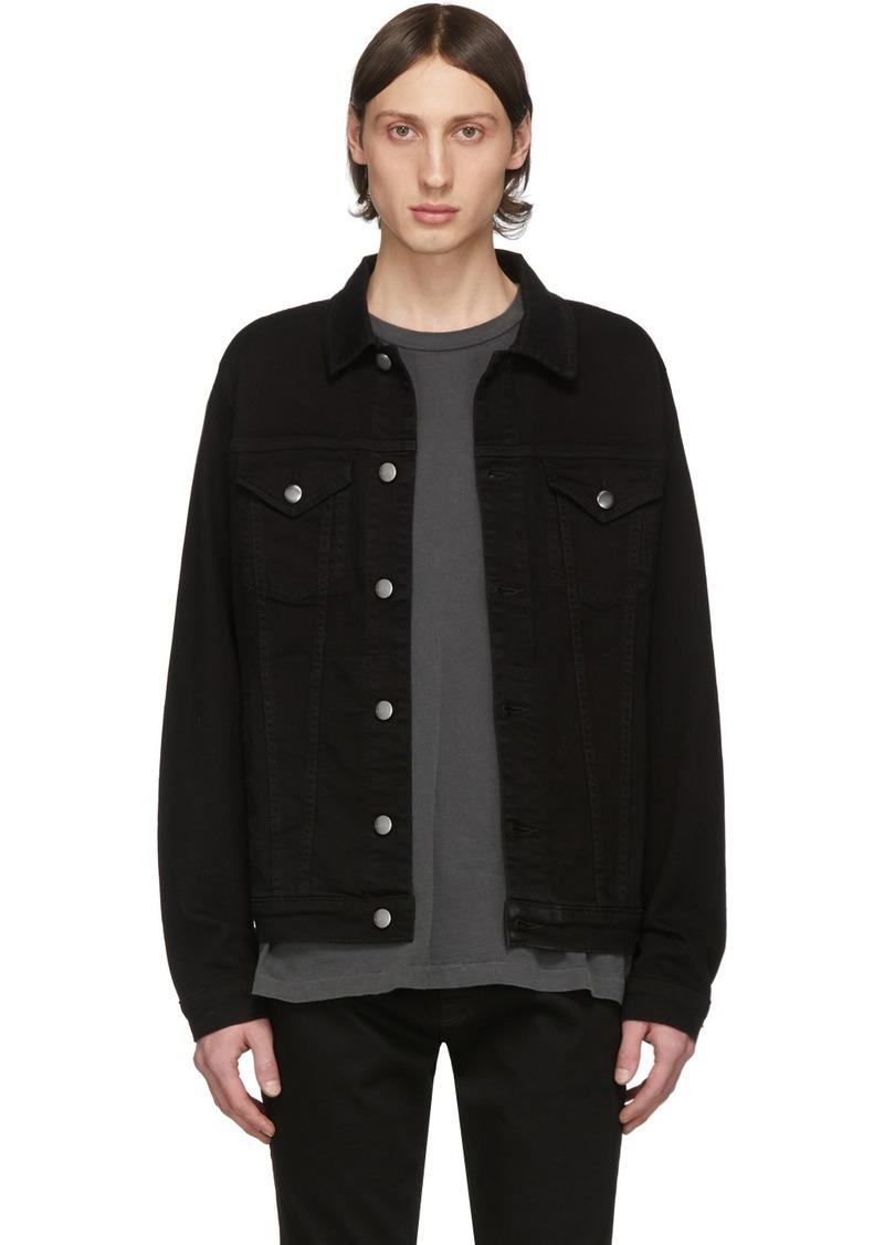 FRAME Black Denim 'L'Homme' Jacket