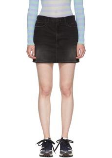 FRAME Black 'Le Mini' Denim Skirt