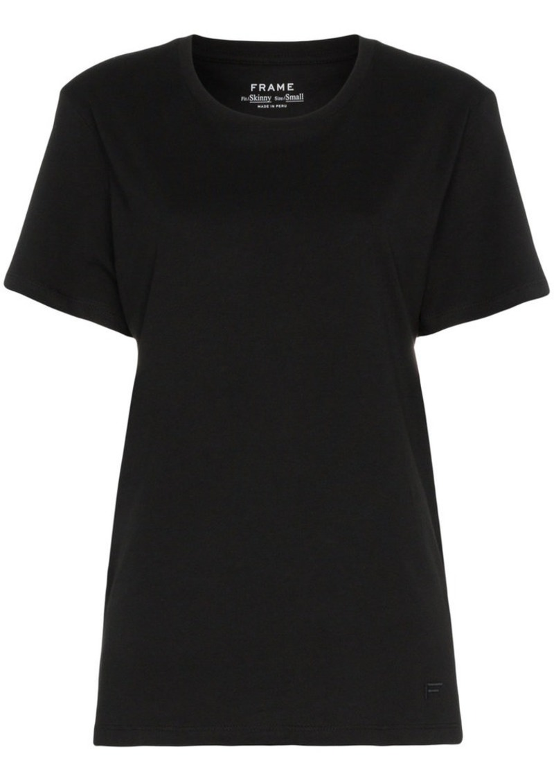 FRAME black men's short sleeve linen t shirt