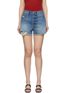 FRAME Blue Denim Heritage Original Shorts