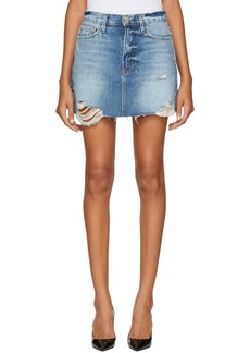 FRAME Blue Le Mini Miniskirt