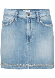 FRAME blue le studded denim mini skirt