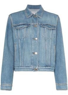 FRAME blue long sleeve denim jacket
