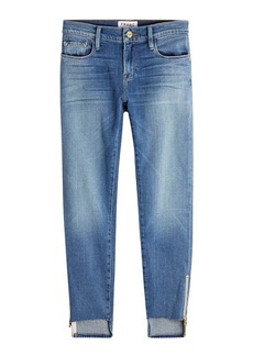 FRAME Boyfriend Jeans with Zipper Detail