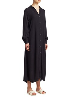 FRAME Button-Up Maxi Dress