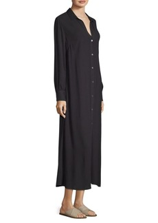 FRAME Button Up Maxi Dress