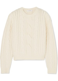 FRAME Cable-knit Wool-blend Sweater