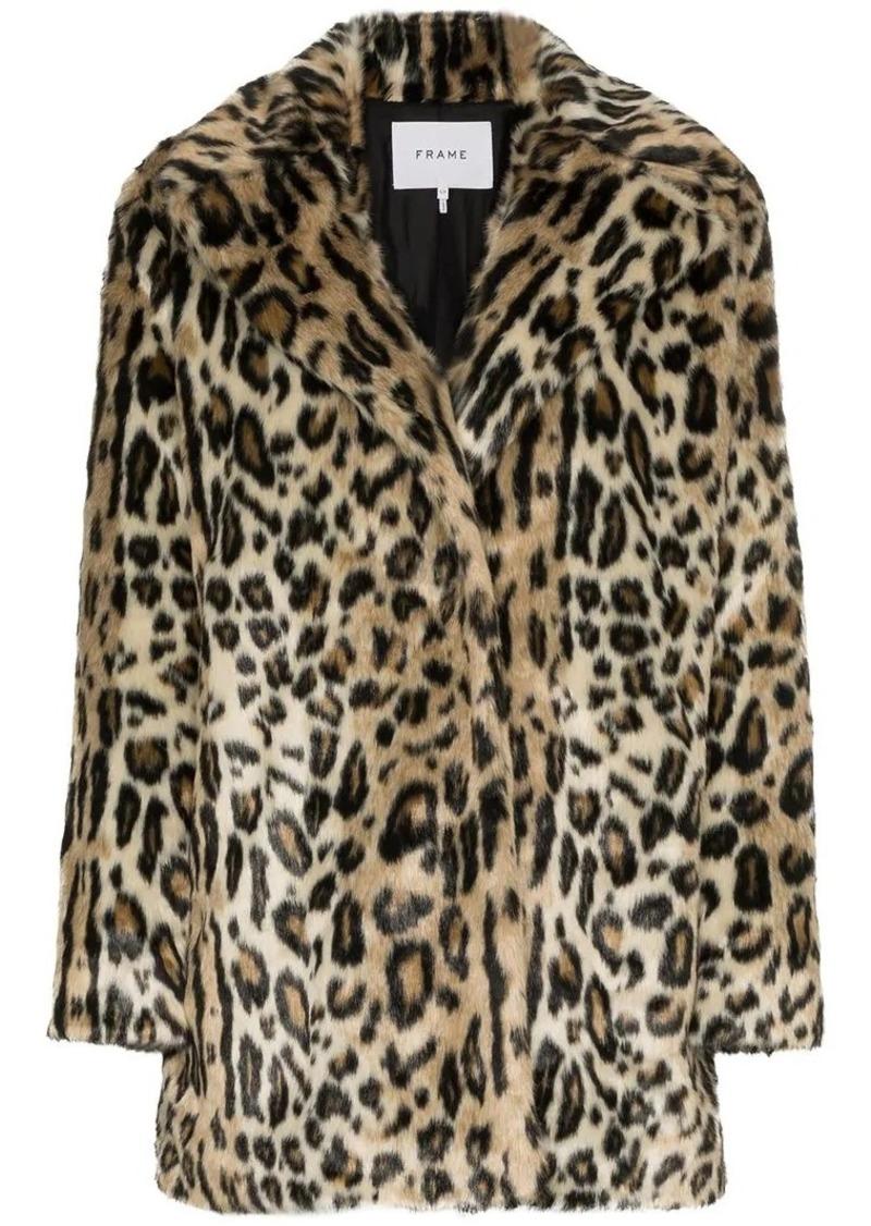 87f388557f7a FRAME Cheetah print faux fur coat | Outerwear