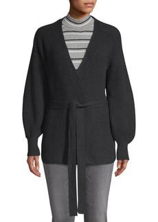 FRAME Chunky Wrap Sweater