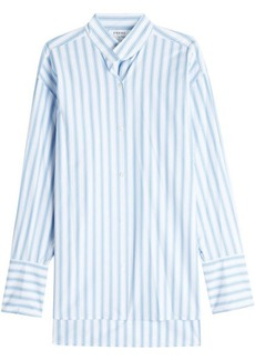 FRAME Clean Collared Striped Cotton Shirt