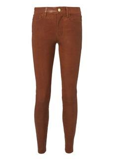 FRAME Cognac Skinny Leather Pants