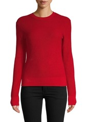 FRAME Cotton Cashmere Crewneck Sweater