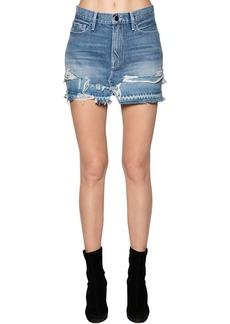 FRAME Cotton Denim Mini Skirt