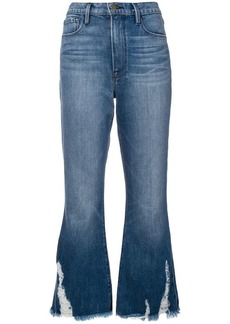 FRAME crop flared jeans