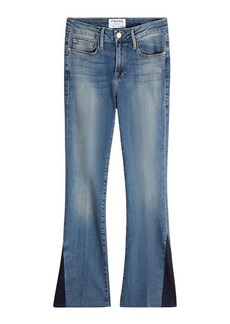 FRAME Cropped Flare Jeans with Accents