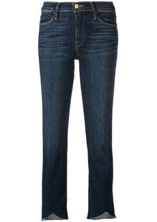 FRAME cropped frayed hem jeans