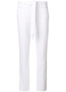 FRAME cropped tie waist trousers