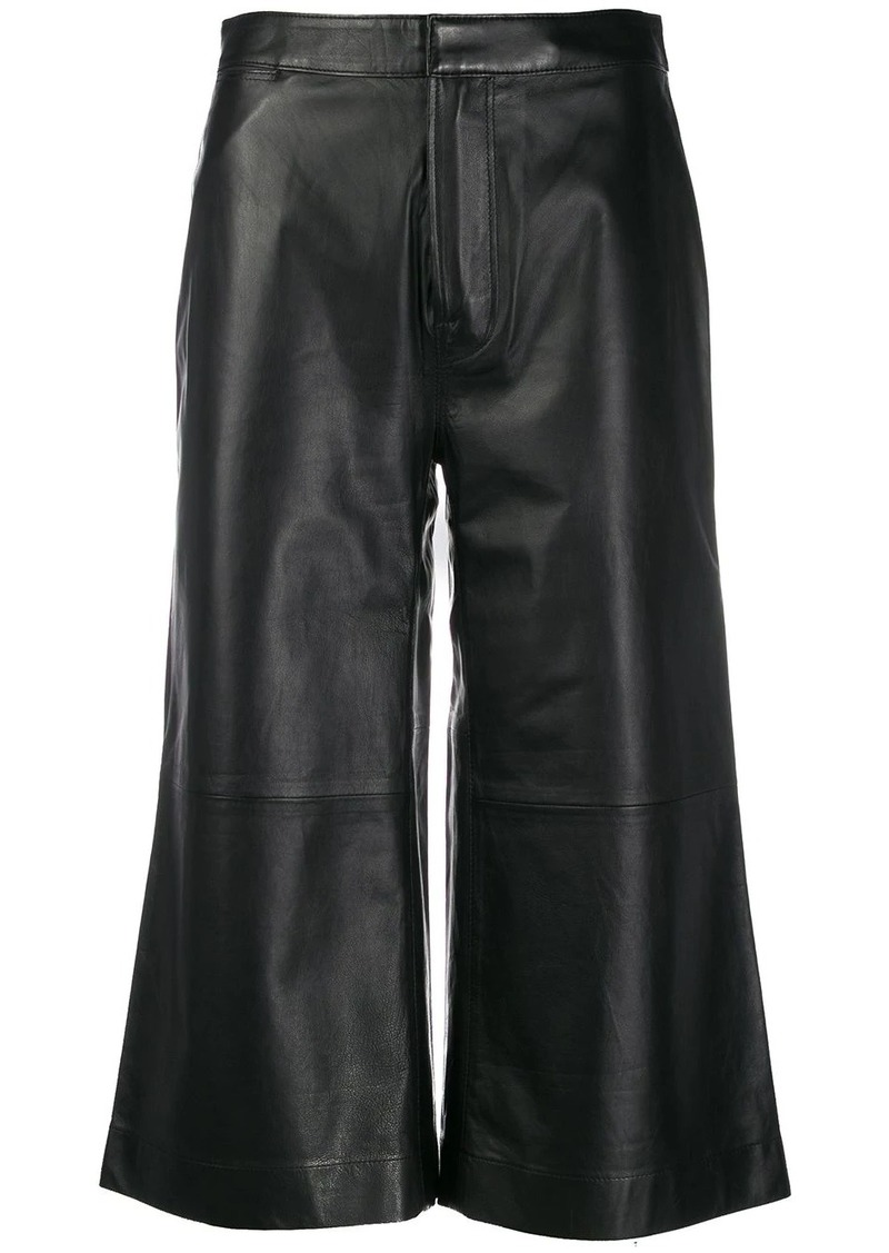FRAME cropped wide leg trousers