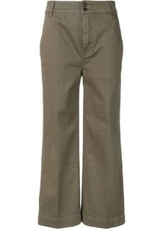 FRAME cropped wide-leg trousers